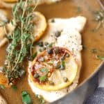 Paleo Lemon Chicken Piccata - Caramelized lemons make a fabulous sauce for this quick 30 minute paleo meal!