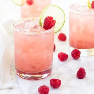 A classic margarita gets a twist with raspberry jam and grapefruit! It's deliciously sweet!