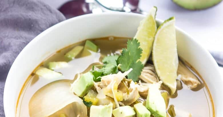 Slow Cooker Green Chile Chicken Soup