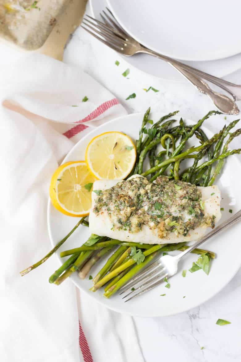 Herb Crusted Cod top-view
