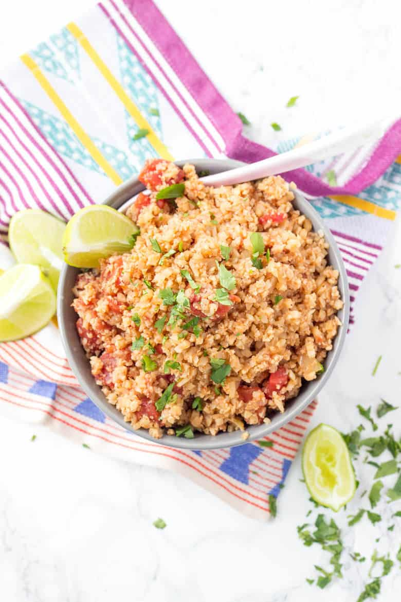 Keto Easy Mexican Cauliflower Rice Skillet - Cauliflower rice skillet side dish