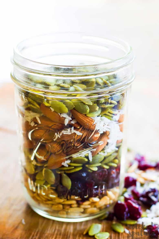 homemade trail mix recipes - in a jar