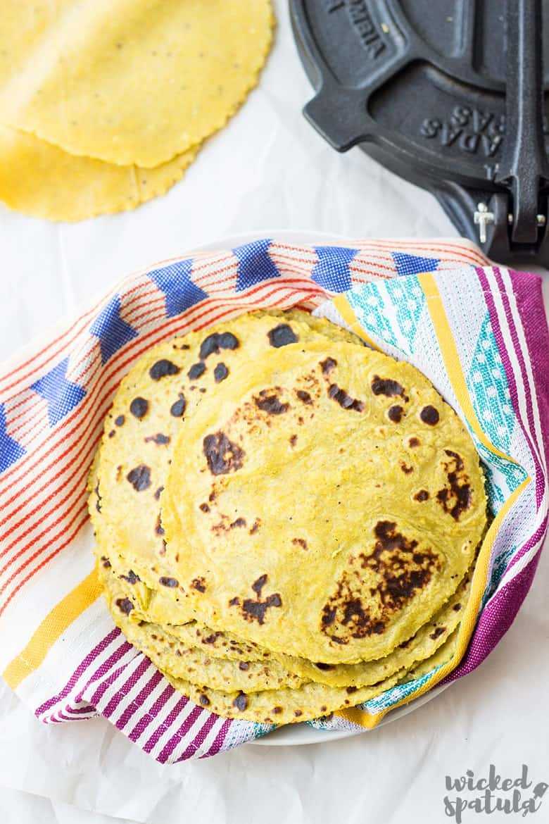 plantain tortillas on plate