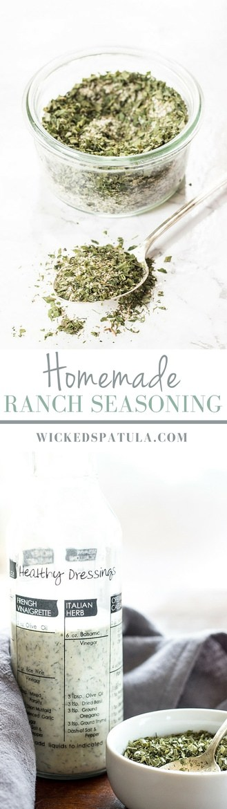 This Homemade Ranch Seasoning is free of junk, dairy, MSG, and preservatives. You can use it for dressing or as an all-purpose mix.