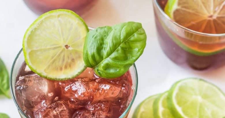 Black Cherry Basil Mocktail