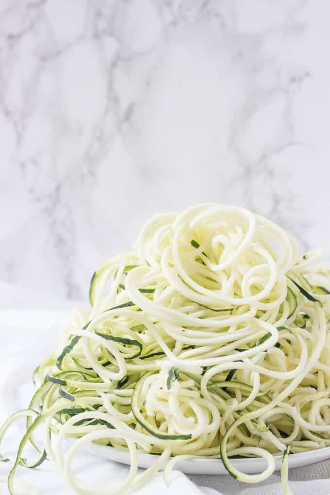zoodles ready for recipe