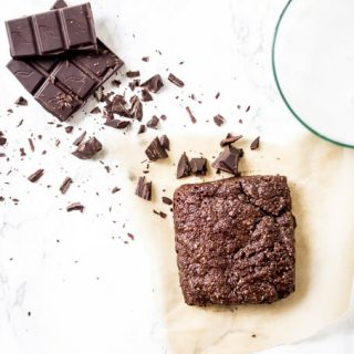 Single Serve Paleo Brownie - dairy free, egg free, grain free fudgy decadence