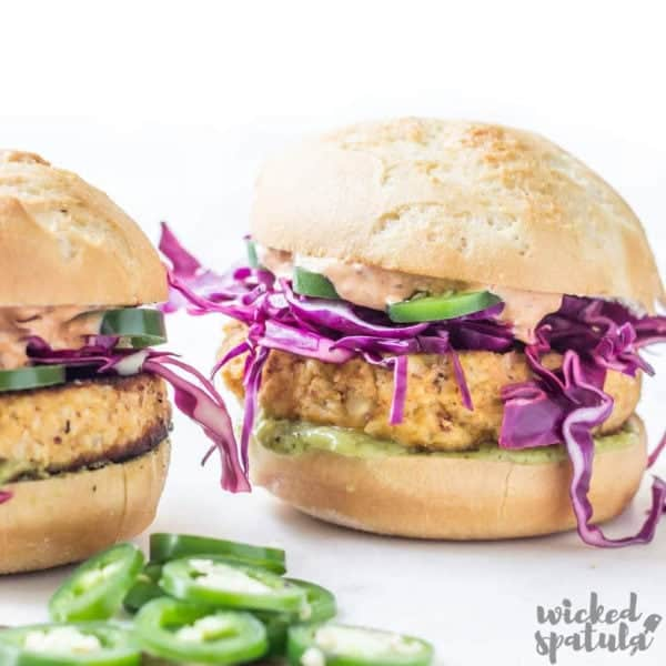 Cauliflower veggie burgers