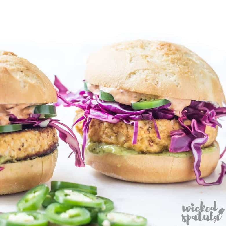 Easy Chipotle Cauliflower Burger Recipe Paleo Low Carb Wicked Spatula