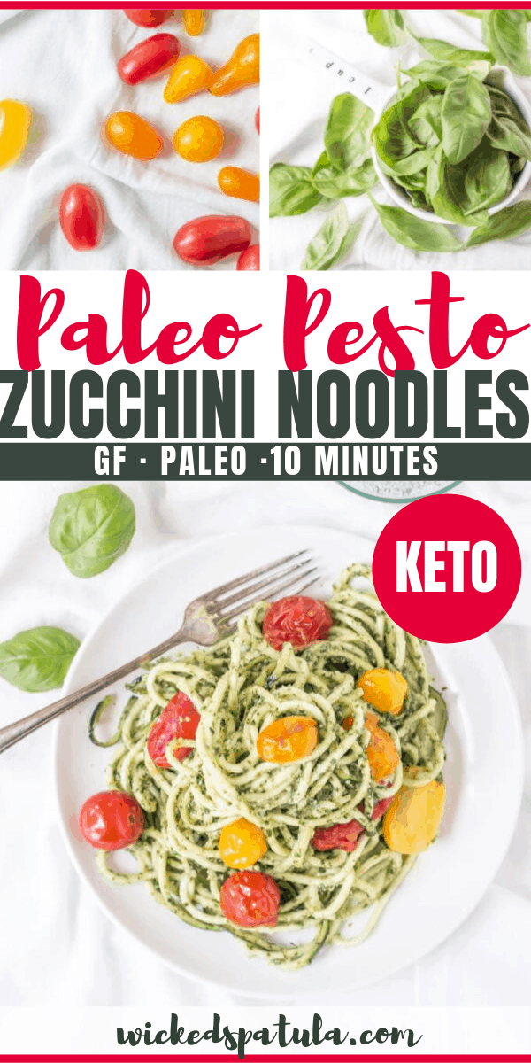 pesto zoodles - pinterest