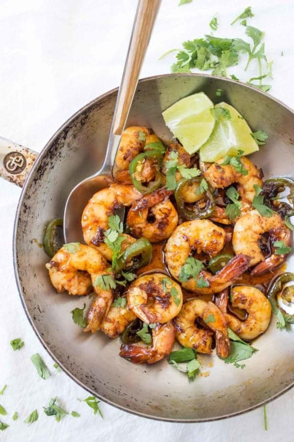 These 10-Minute Spicy Margarita Shrimp are bursting with sweet and spicy flavors. The get kicked up a notch with a splash of tequila!