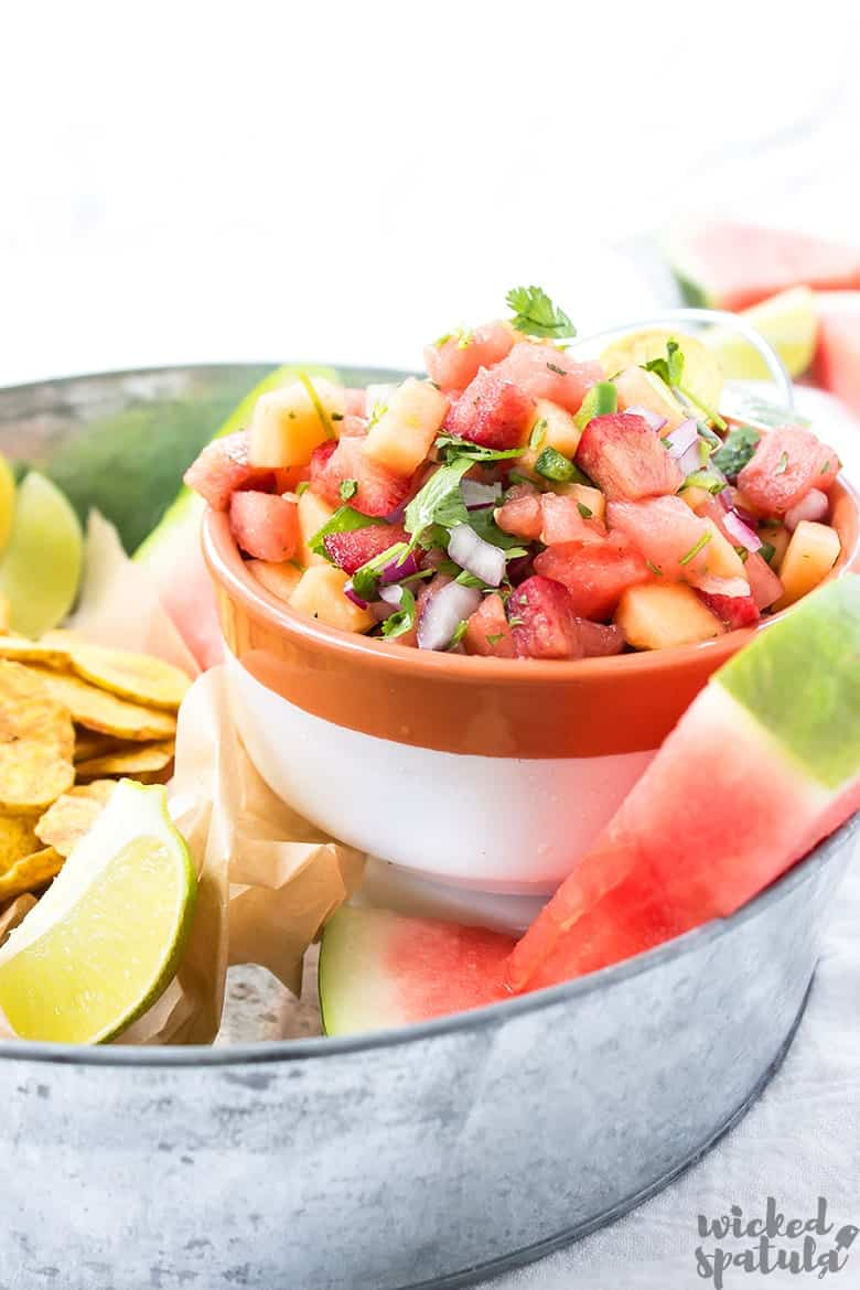 plum salsa in a bowl