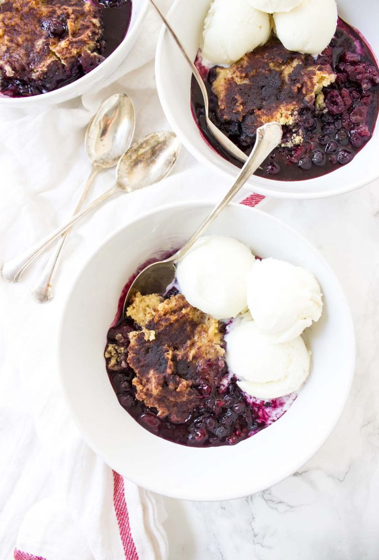 This Slow Cooker Mixed Berry Cobbler has that classic syrupy fruit all topped with a fluffy pastry that gets all mixed up in one bowl.