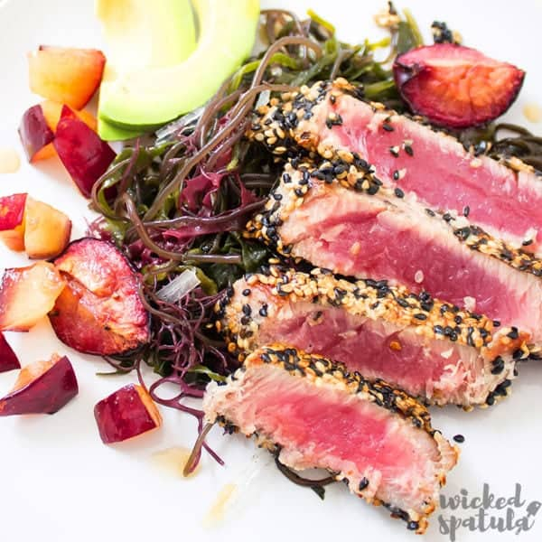 seared ahi tuna recipe sliced