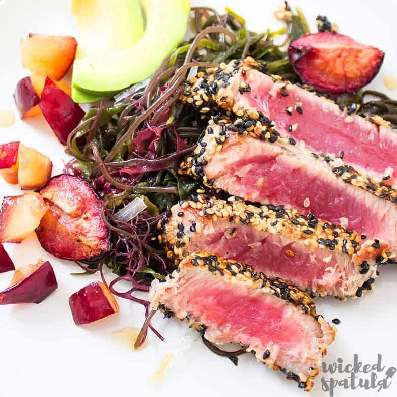 seared ahi tuna recipe sliced