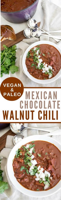 Mexican Chocolate Walnut Chili (vegan + paleo) - Wicked Spatula