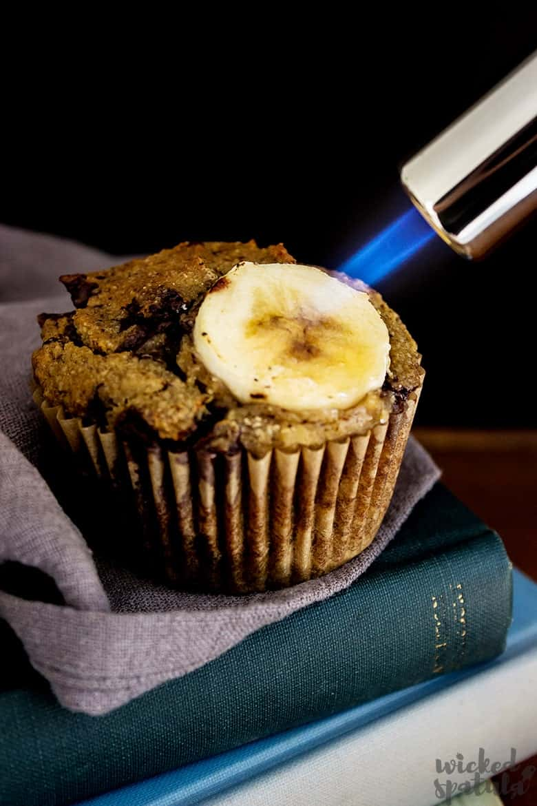 banana muffin recipe with torched topping