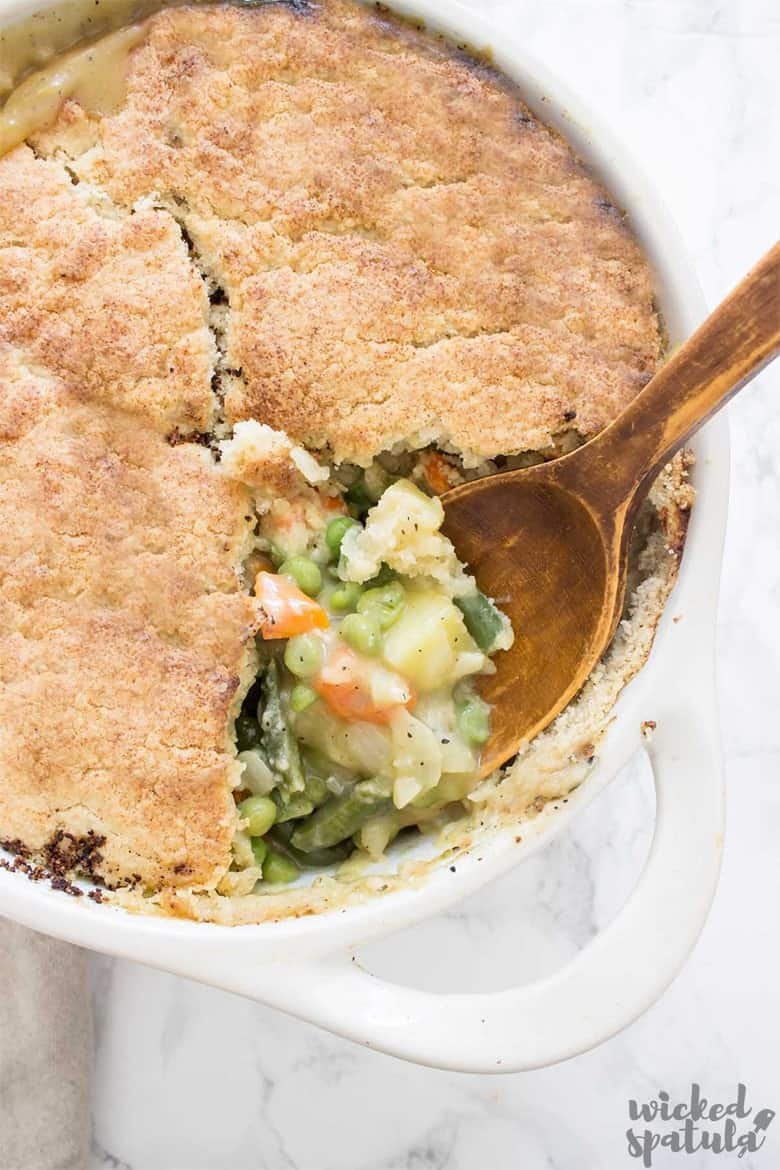 Paleo pot pie close-up picture