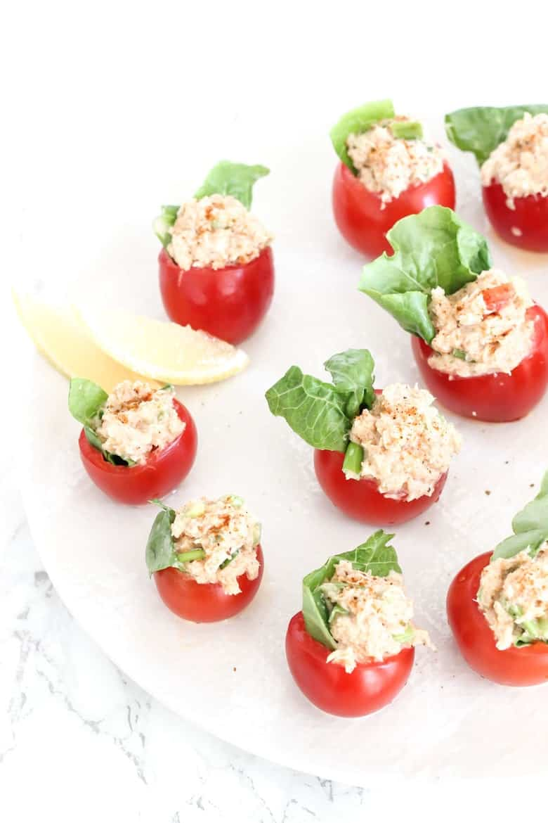 Cajun Crab Stuffed Tomato Poppers finished