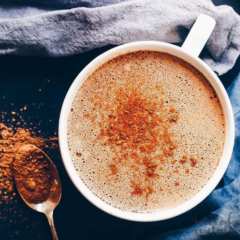 paleo hot chocolate in a mug