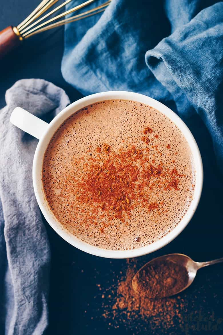 paleo hot cocoa overhead shot