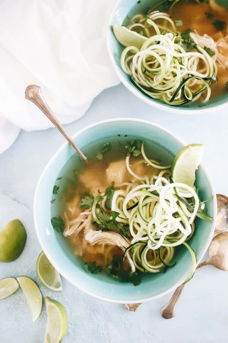 This Slow Cooker Paleo Chicken Pho is nourishing and so easy to make, just a few hours in the slow cooker and you'll have s steaming bowl of pho to gulp down.