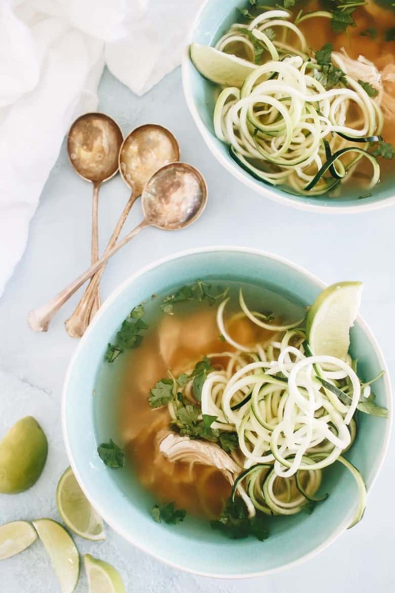 This Slow Cooker Paleo Chicken Pho is nourishing and so easy to make.