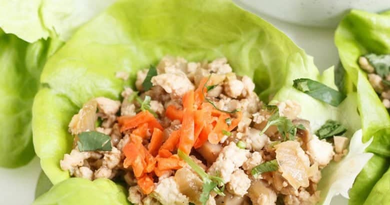 Paleo Chinese Chicken Lettuce Cups {AIP + Whole30}