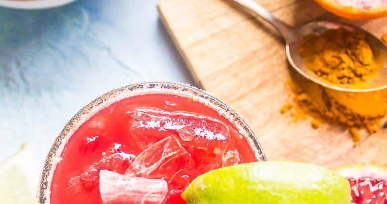 Smoky Blood Orange + Turmeric Mezcal Margarita