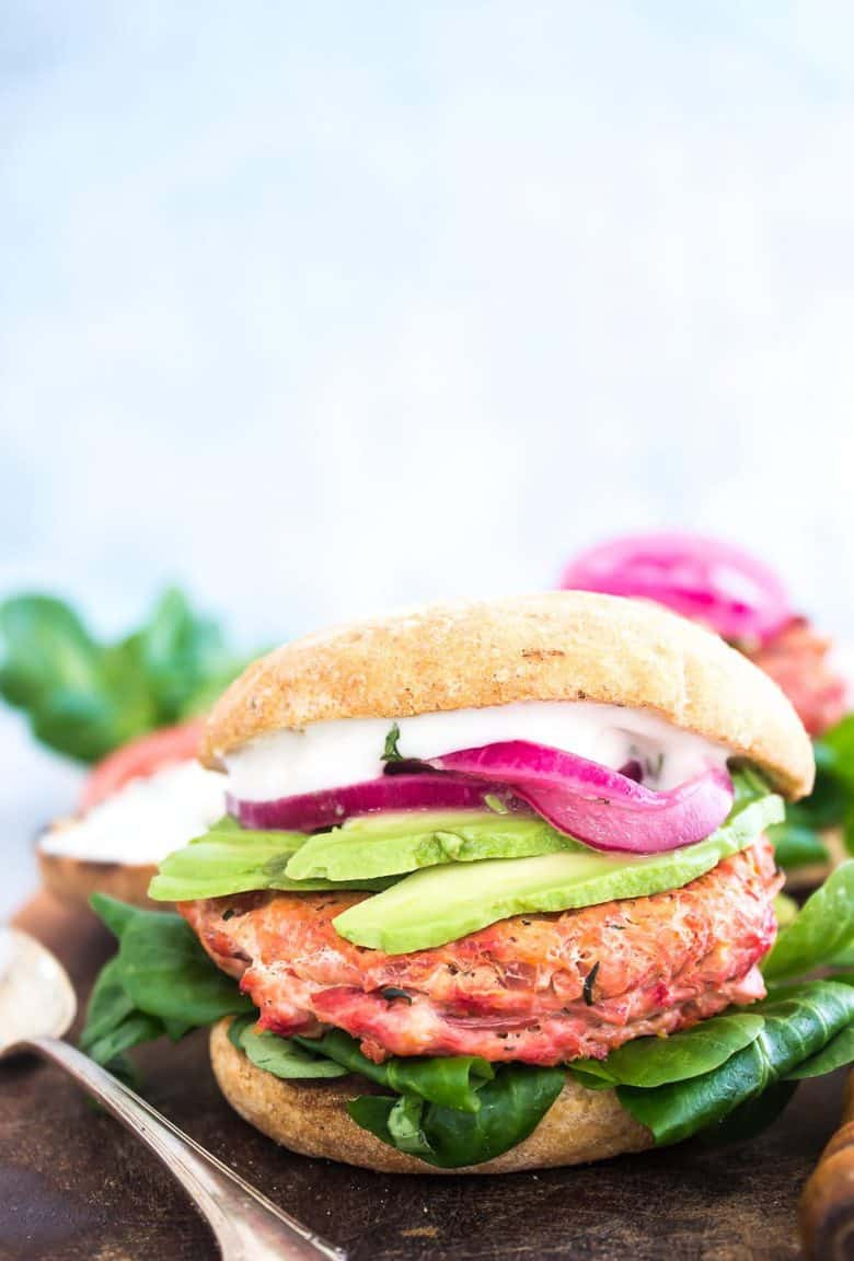 These healthy veggie turkey burgers are packed with beets, carrots, zucchini, and onion giving these burgers a fantastic flavor and an extra healthy boost.