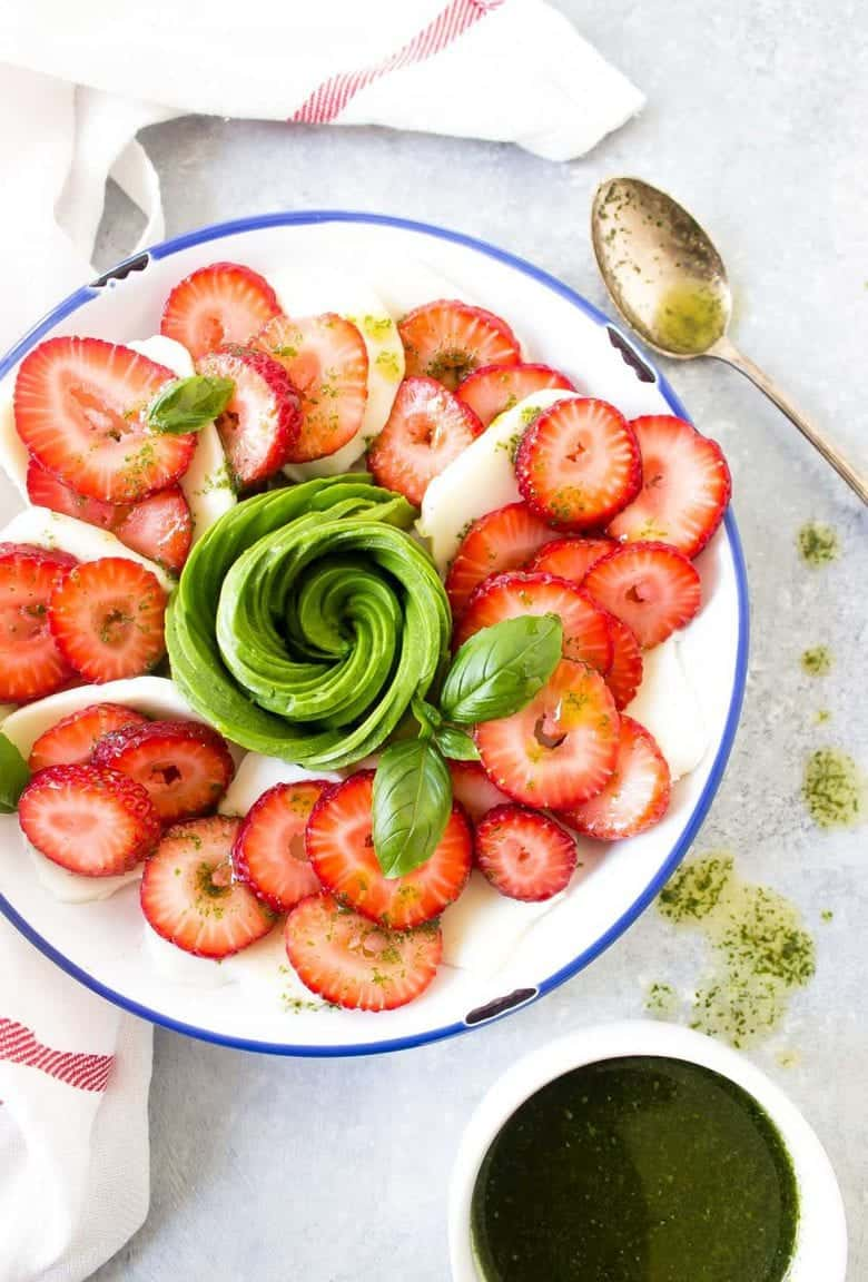 Strawberry Avocado Caprese Salad