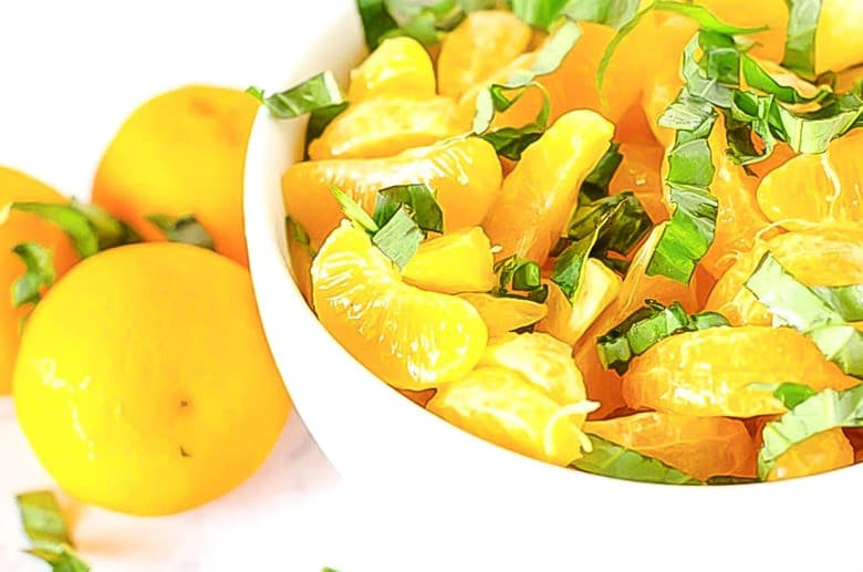 This Orange Basil Salad perfect for summer and is paleo friendly!