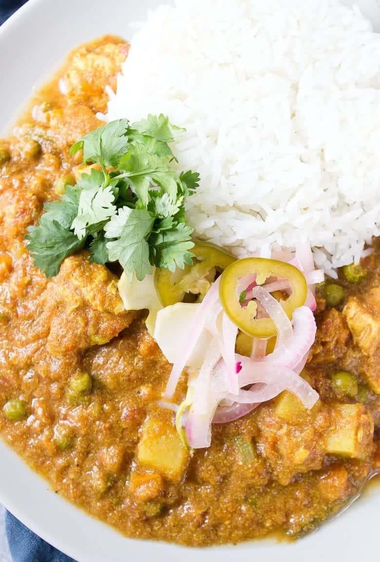 Gluten Free Slow Cooker Chicken Korma