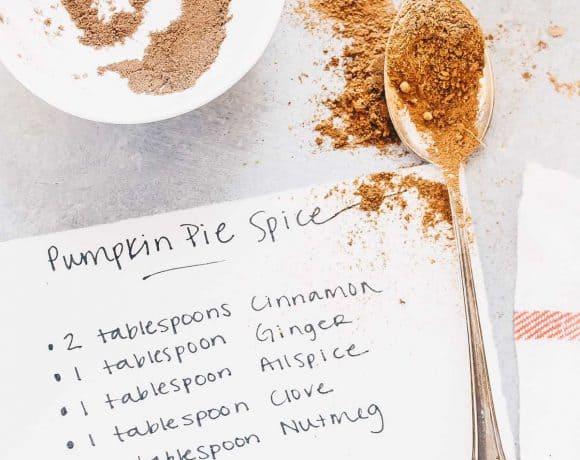 DIY Pumpkin Pie Spice Blend