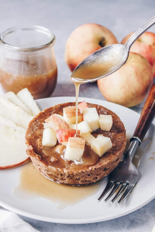 Paleo Caramel Apple Mug Cake
