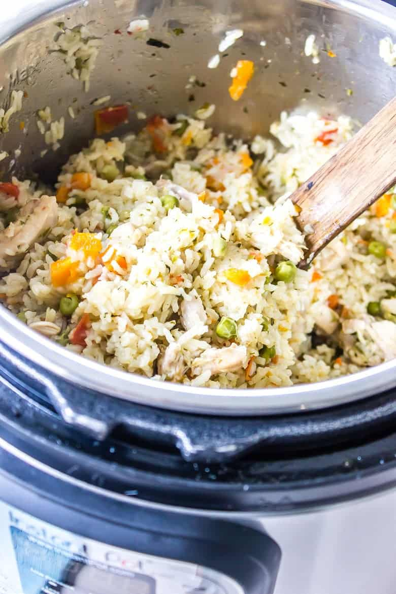 Instant Pot Latin Chicken And Rice Wicked Spatula