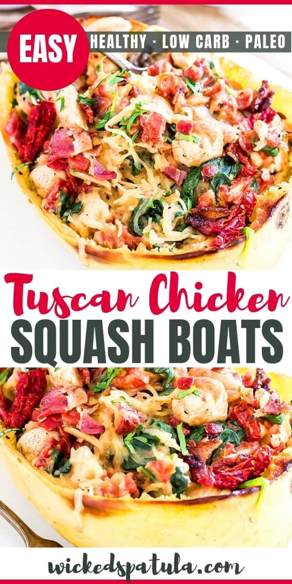 Tuscan Spaghetti Squash - Pinterest