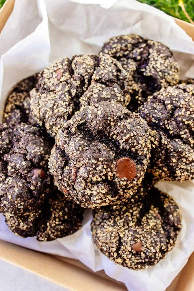 Mexican Hot Chocolate Cookies - Gluten Free and Vegan