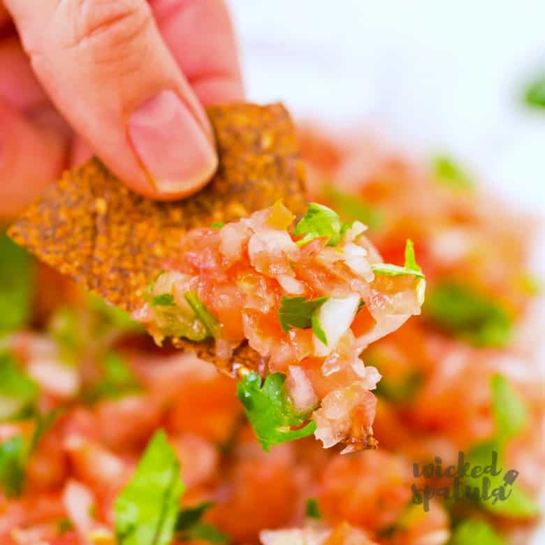 Pico de gallo on paleo chip
