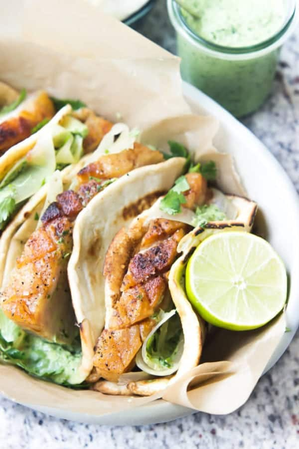 Pork Belly Tacos Recipe - tacos with lime
