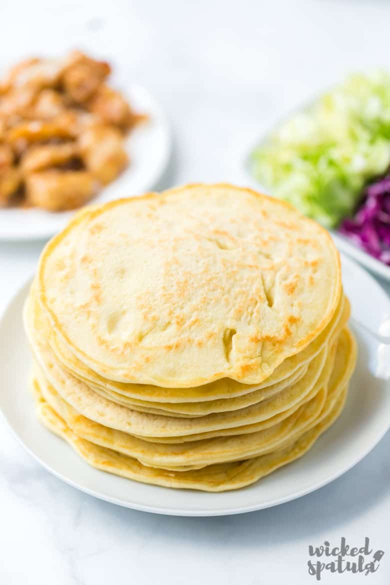 stack of paleo tortillas