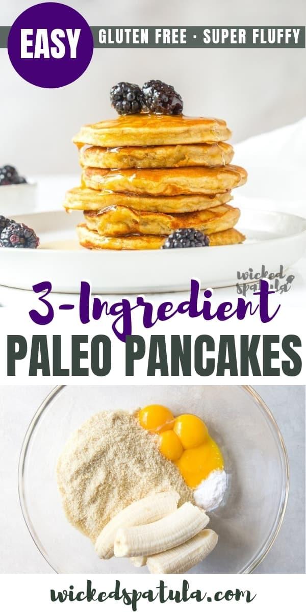 Paleo Banana Pancakes Pin Image