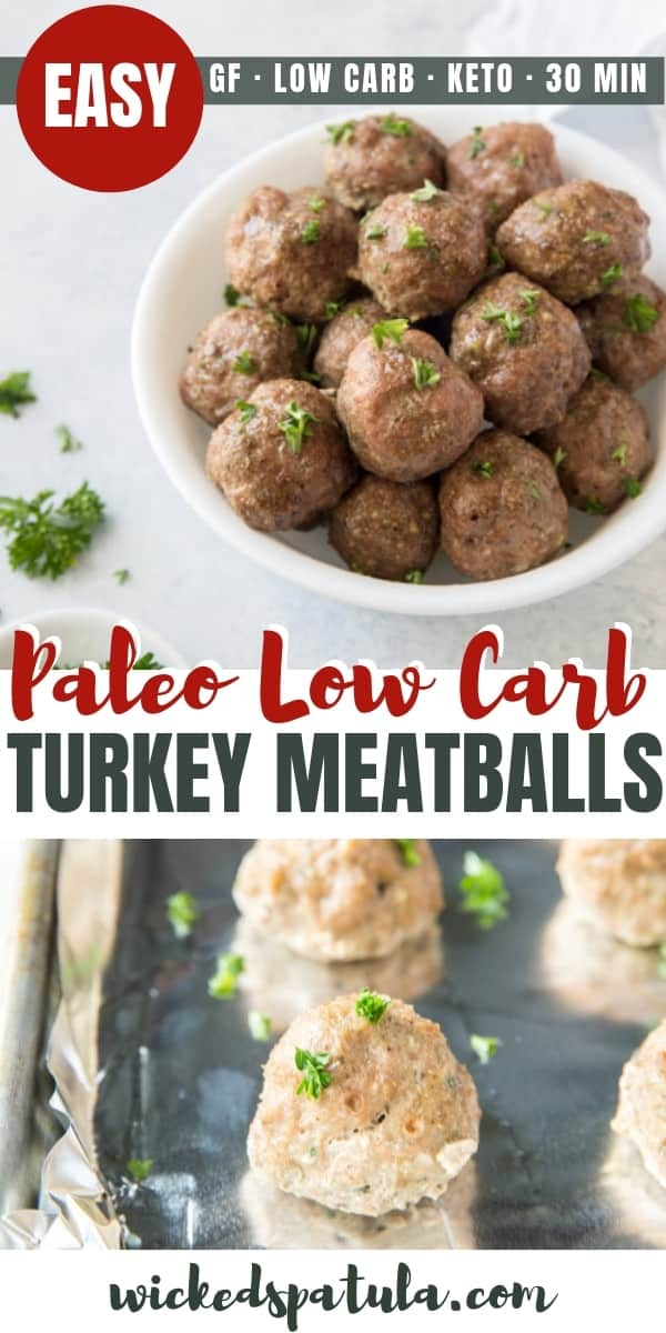 Paleo low carb turkey meatballs recipe