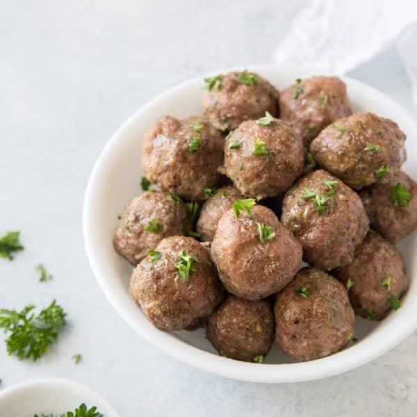 paleo turkey meatballs recipe in a bowl