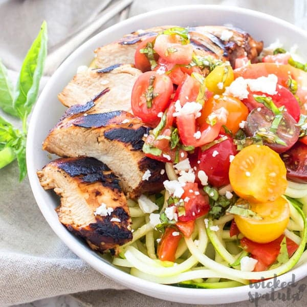 grilled bruschetta chicken bowl