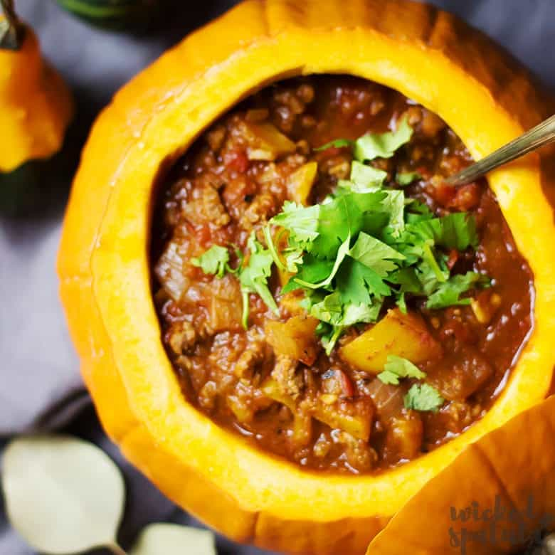 Paleo Pumpkin Chili Recipe - Pinterest Image