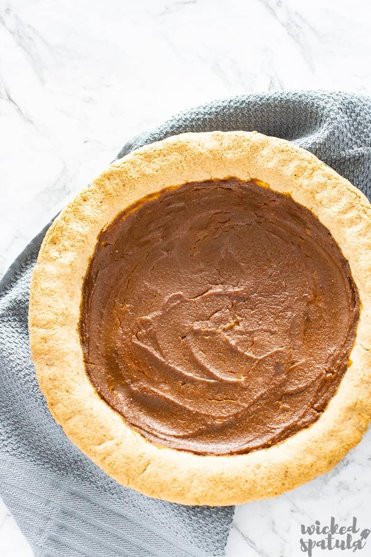 dairy-free pumpkin pie baked