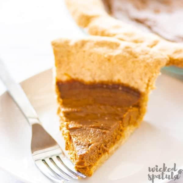slice of pie on plate