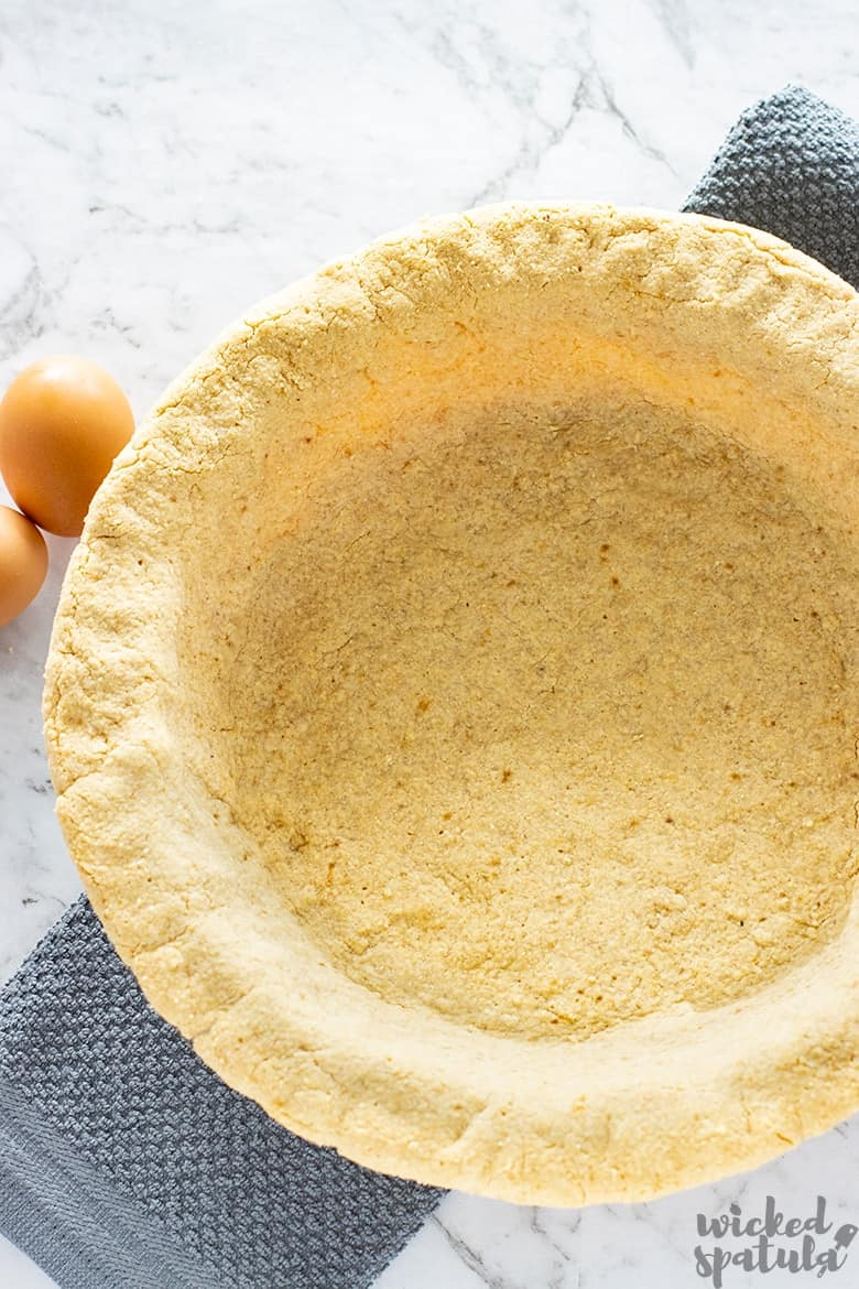 easy paleo pie crust in dish