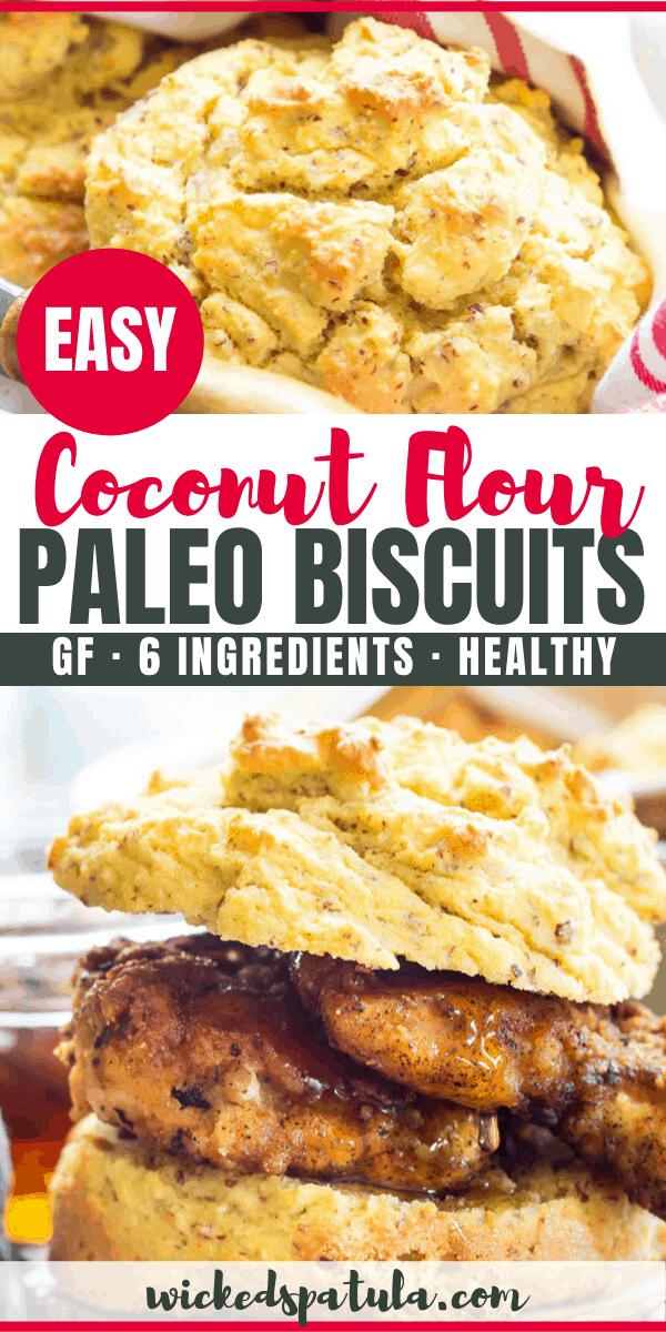 coconut flour biscuits - pinterest